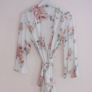 Morning Lavender Rose Robe